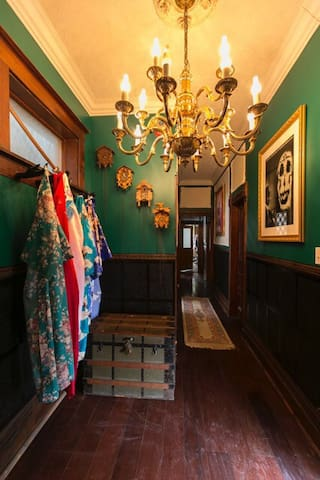 Guest kimonos, in the first floor palour.