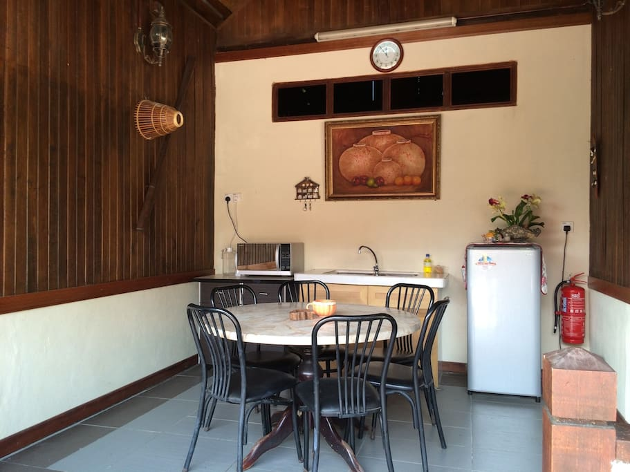 Dining Space Between the 2 Rooms