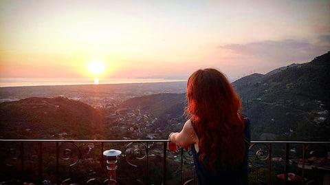 La stupenda vista di Dulcis in Borgo  The wonderful view of Dulcis in Borgo