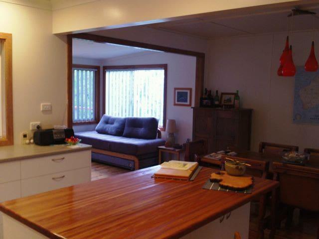 Kitchen, dining & sunroom