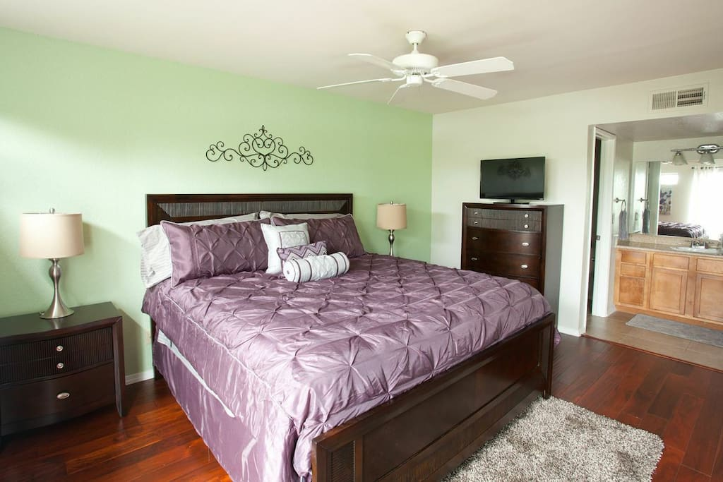 Master Bedroom.  One King Size Bed.