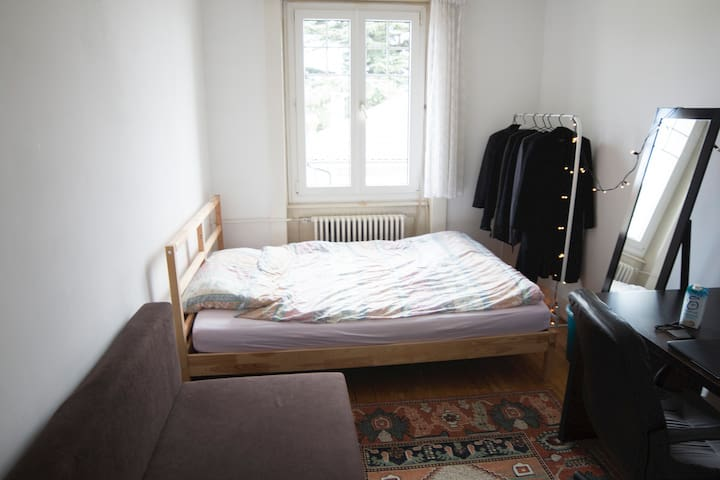 Big Beds in Comfy Room Close to Lausanne and EPFL