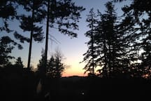 Incredible sunsets to the west and northwest from private deck and viewed from all windows