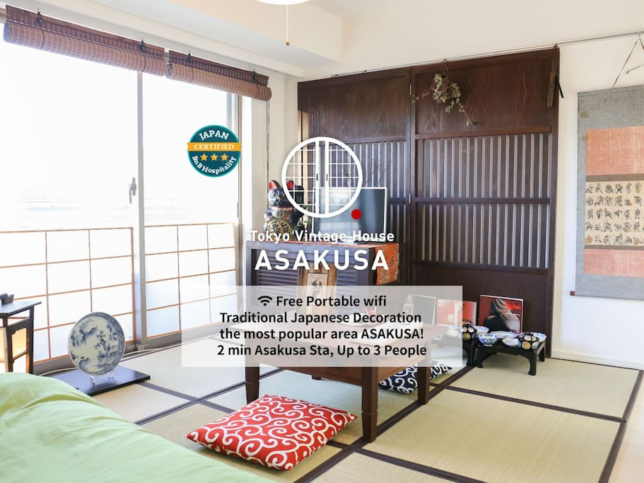 You can walk to ASAKUSA 10min on foot.