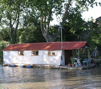 Houseboat  with terrace on canal - Argens-Minervois - เรือ