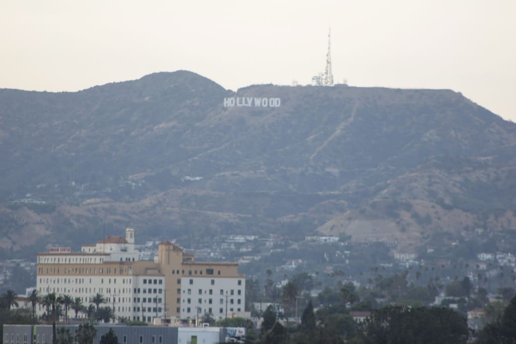 View of Hollywood sign from the apt.