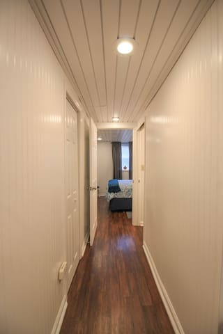 Hallway from Kitchen to Bedroom and Bath
