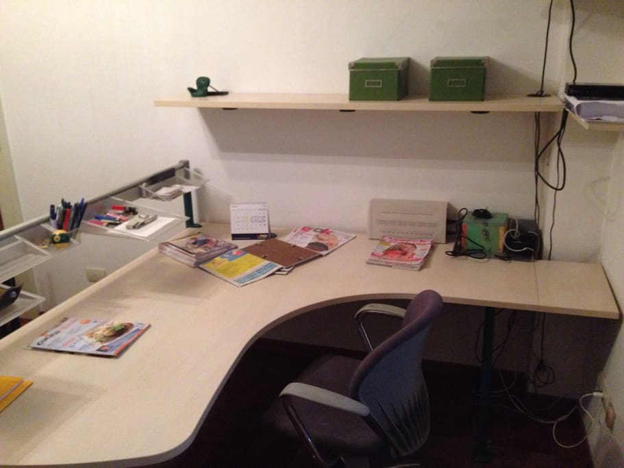 Spaziosa scrivania Ergonomica