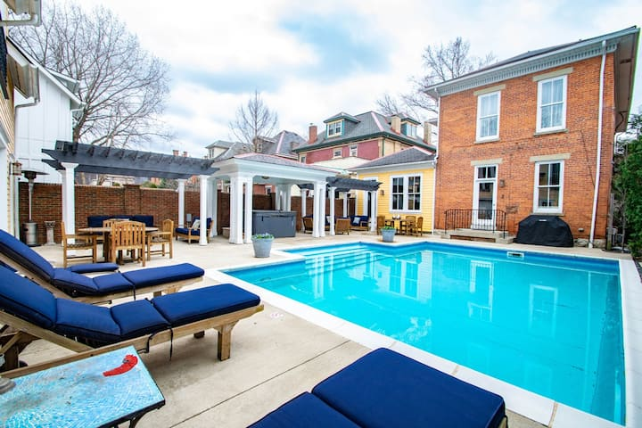 Short North Carriage House Salt Water Pool Hot Tub