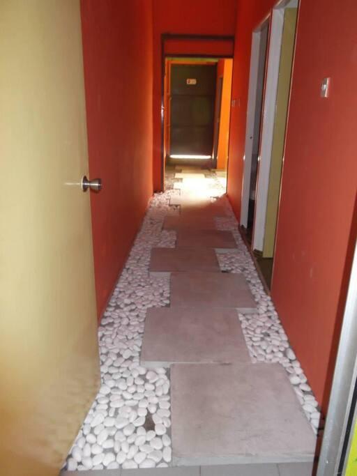 Unique corridor to every room