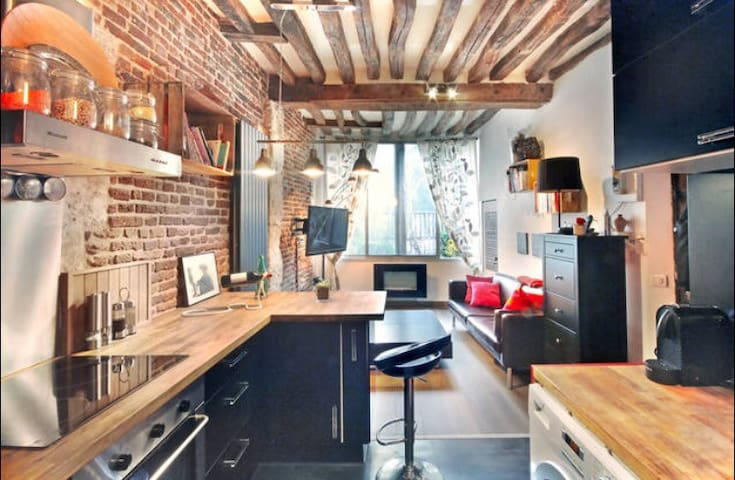 Charming apartment with a lovely garden - Rouen - Leilighet