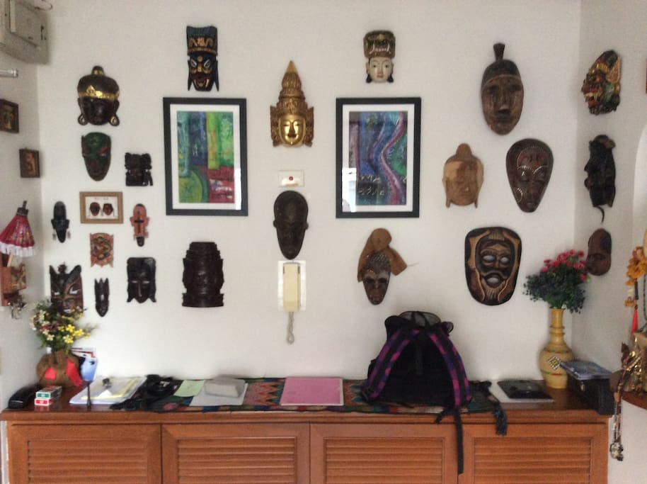 My Mask Wall. A legacy from my years of world travel. Each with their own unique story.