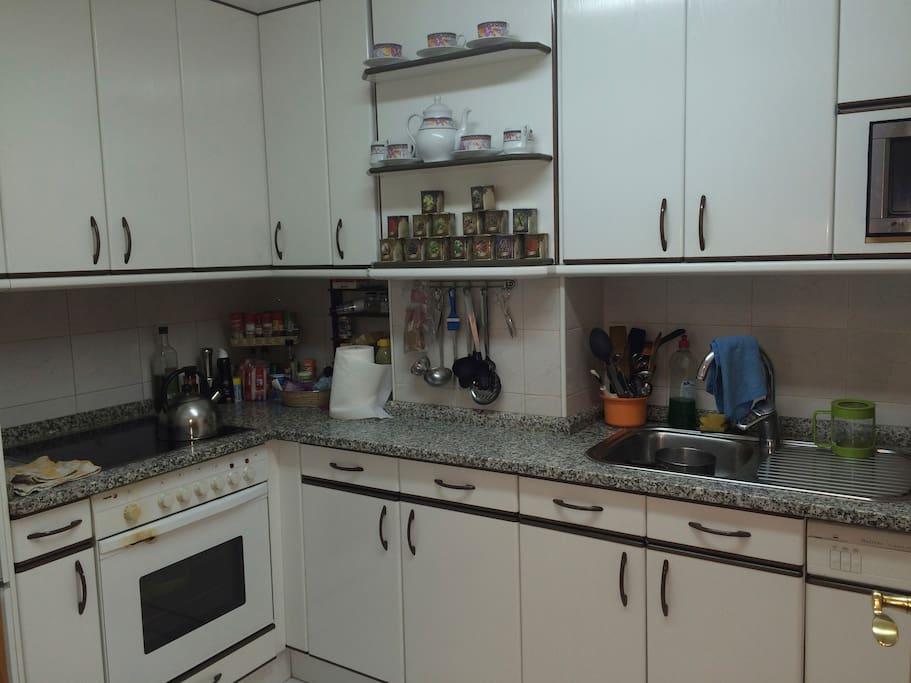 Kitchen with all the needed appliances