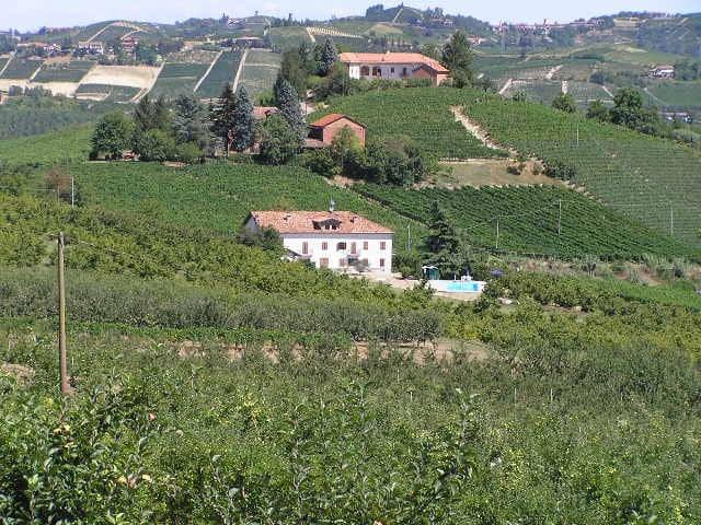 Cascina La Famó ist umgeben von Weinbergen