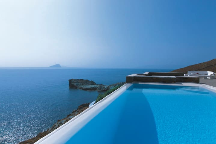 The Aegean before your very eyes! - Kythnos - Casa de camp
