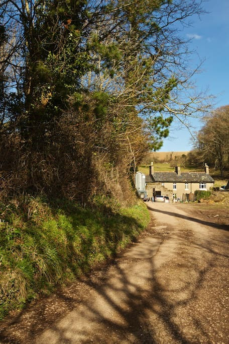 Located on a small family organic farm on the edge of village of Kingswear.