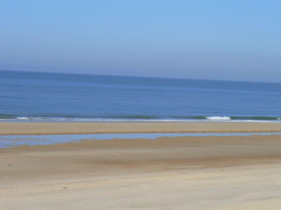L'océan: plage de la Lete Blanche