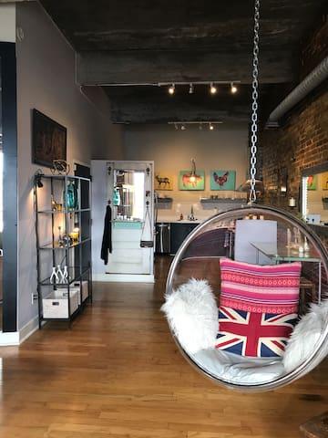 Downtown Birmingham studio loft