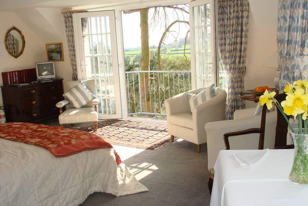 B&B room with balcony, kitchenette, ensuite bathroom.  Includes breakfast
