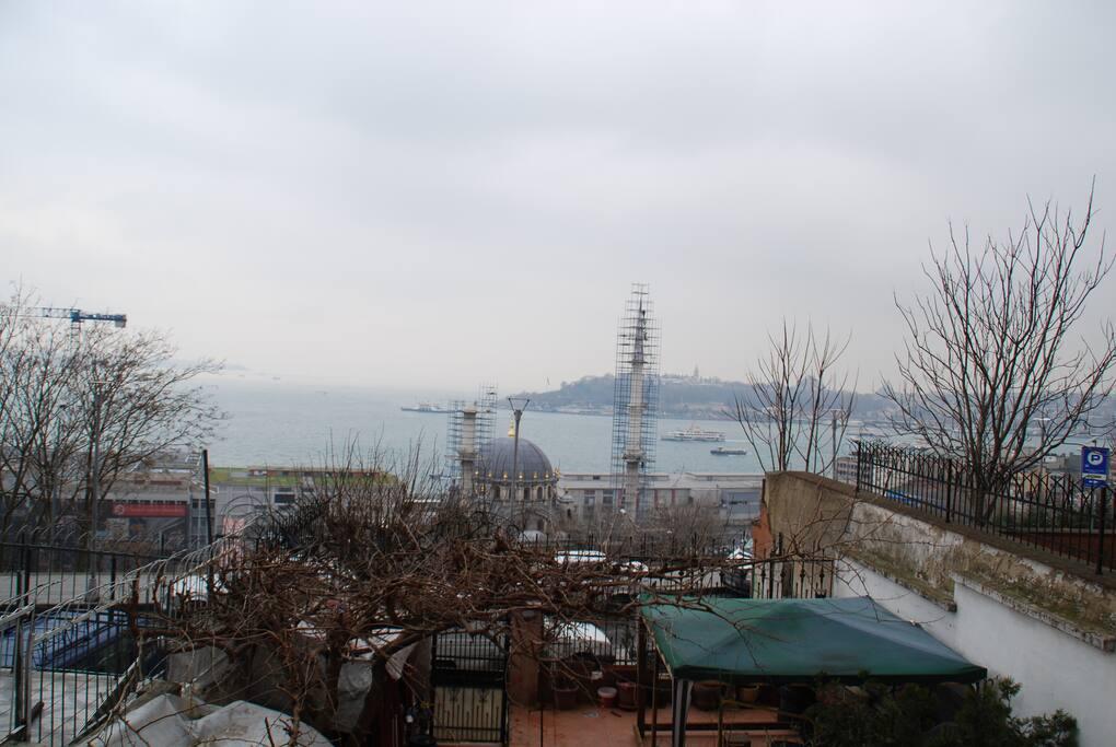 big window facade: amazing view to the bosporus
