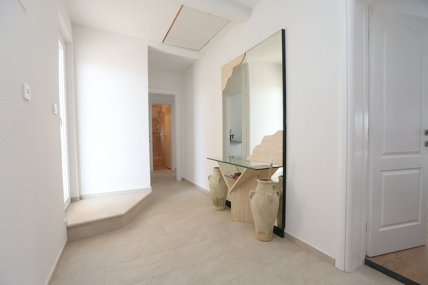 Apartment 3- This double bedroom has access to the terrace.