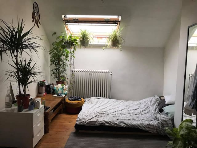 Quiet Bright and artistic room in Brussels