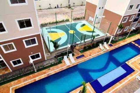 Apartamento novo,  aconchegante e bem localizado