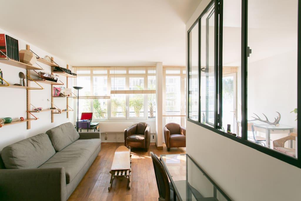 Montparnasse vue tour eiffel paris apartments for rent in paris le de fra - Airbnb paris montparnasse ...