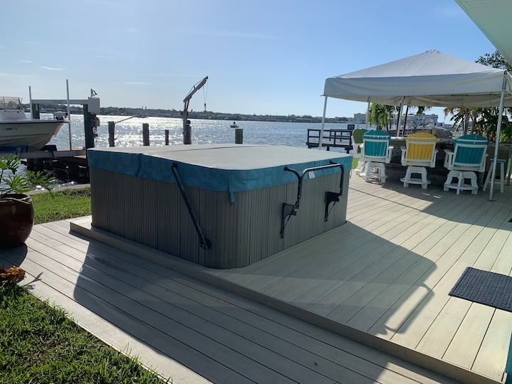 Fish Every Day!  Waterfront house with hot tub.