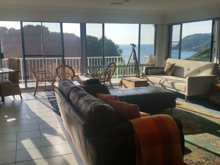 Views from every angle in the spacious open plan living area