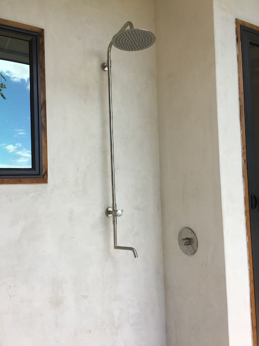Outdoor shower and Foot wash.  Use for cleanup after the beach or shower in it every day.