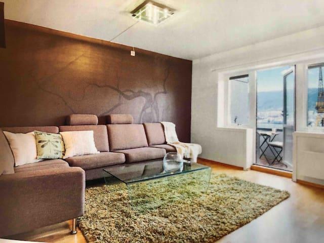 Trendy Topfloor apartment - Bergen - Kingsroom