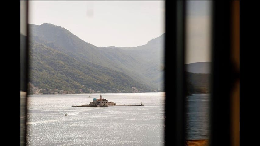 Perast Venetian Jewel House -stunning terrace view