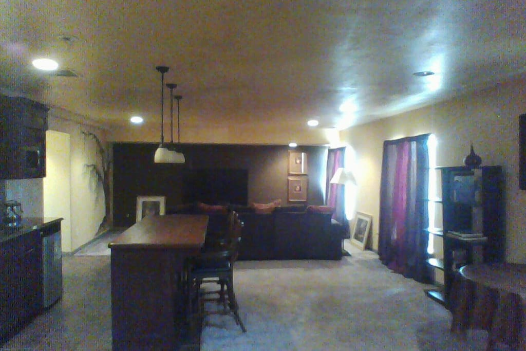 Private den area w/ large tv