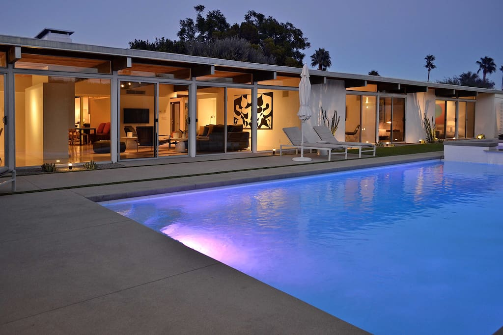 Indoor/Outdoor Living.  All rooms open via glass sliders to the pool and/or garden