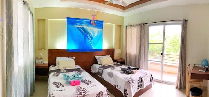 35m²2Bed-AirconFreezerSafebox-Bigsale-Panglao