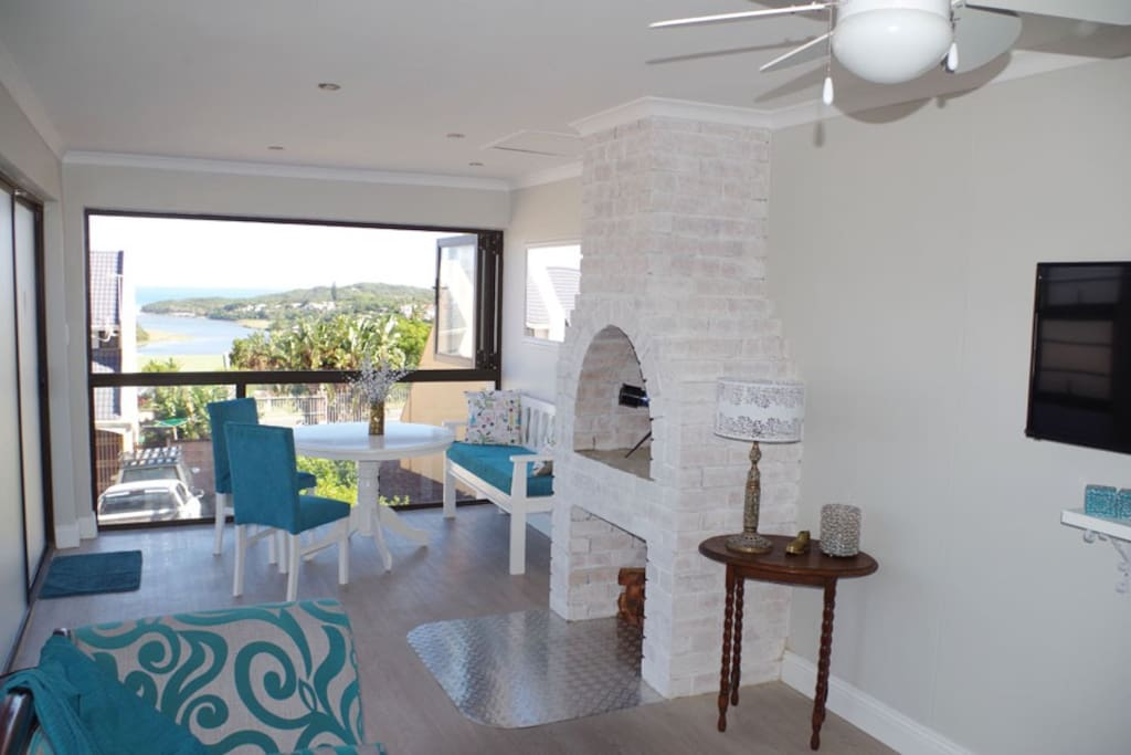 Sea view from lounge/dining area