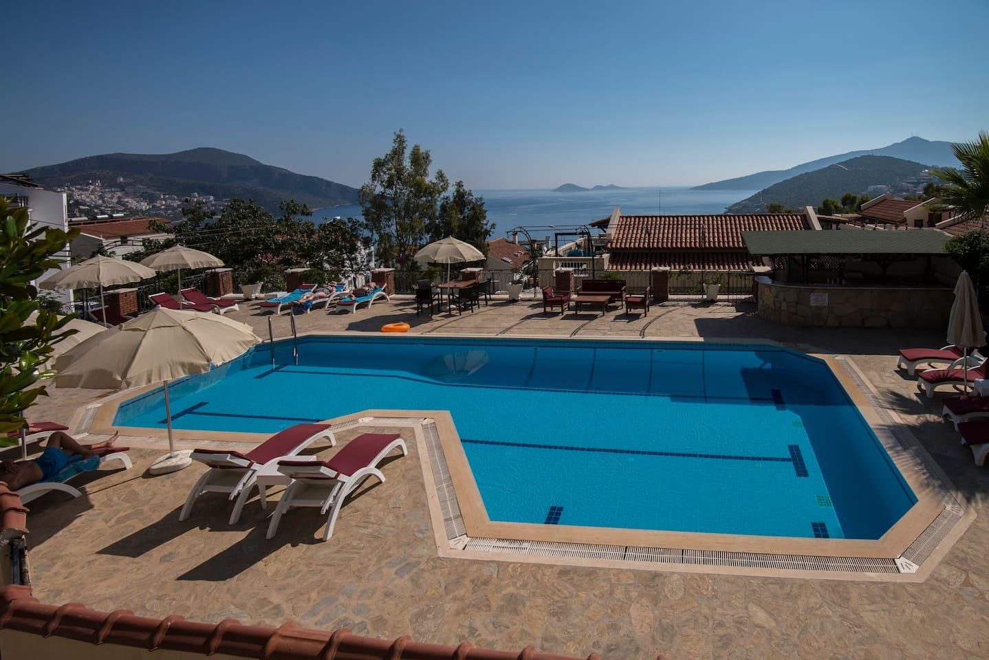 The Falcon Villas pool area