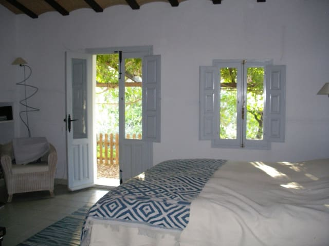 Studio bedroom with separate entrance and bathroom