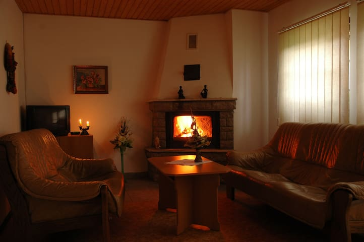 Nice apartment with a fireplace and balcony - Oravská Polhora - Apartemen