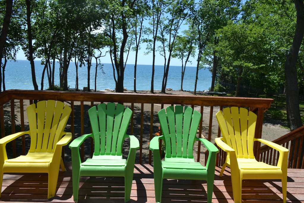 Relax on the deck enjoying amazing views of Lake Erie.