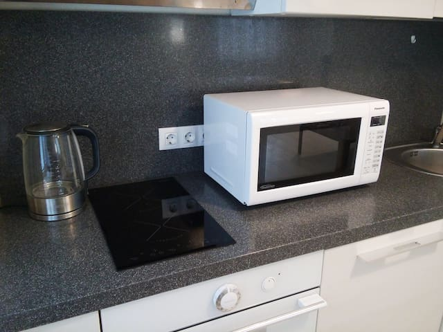Induction and micro for cooking food