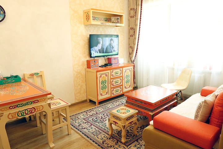 Traditional Mongolian apt + Wi-Fi in city center - Ulaanbaatar - Wohnung