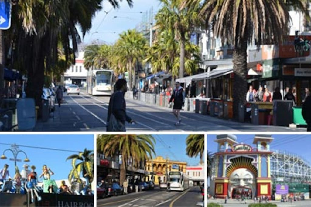 FAmous Acland Street, Luna Park and Fitzroy Street all on your doorstep