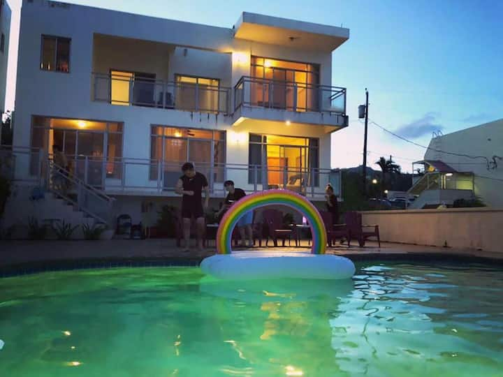 塞班岛近海独栋3居室海景私人泳池别墅200平米可做饭近市区