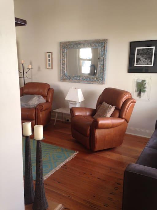 Private sitting room adjoins bedroom