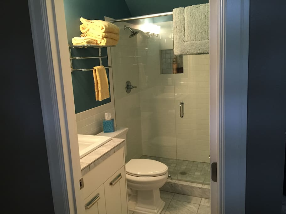 Private bathroom, large shower with great water pressure!