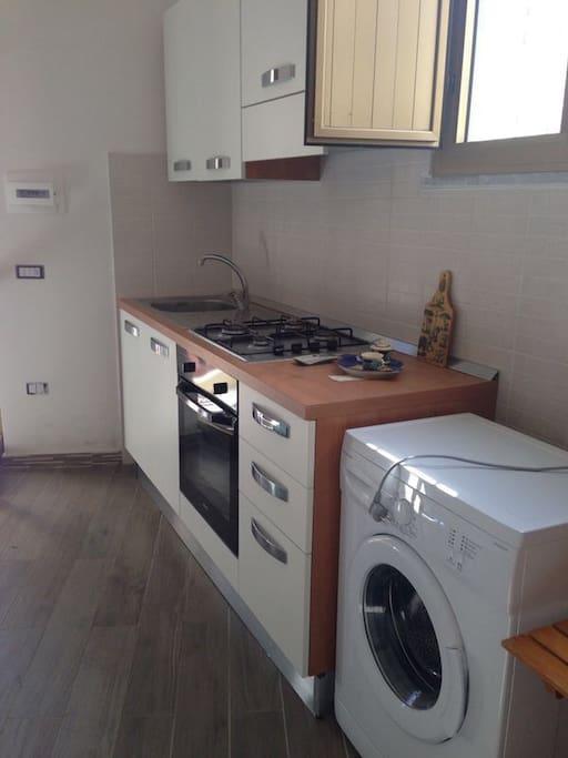 Piano cottura, forno, lavatrice