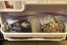 Individual packets of craisins and granola, enjoy!