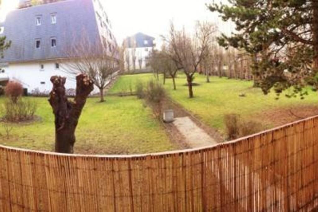 Vue sur les jardins intérieurs, plein SUD pas de vis à vis
